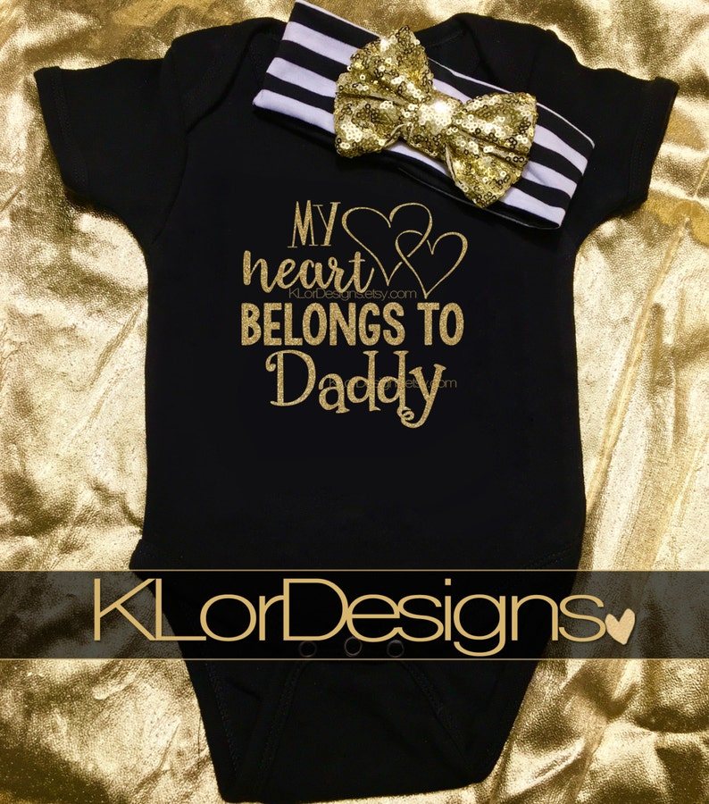 cba7245a My Heart Belongs to Daddy First Father's Day Baby Girl | Etsy