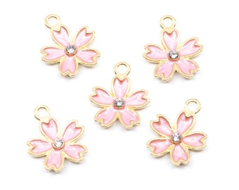 5 CACTUS Charms 20mm Plant Charms Enamel Floral Charms chs5497