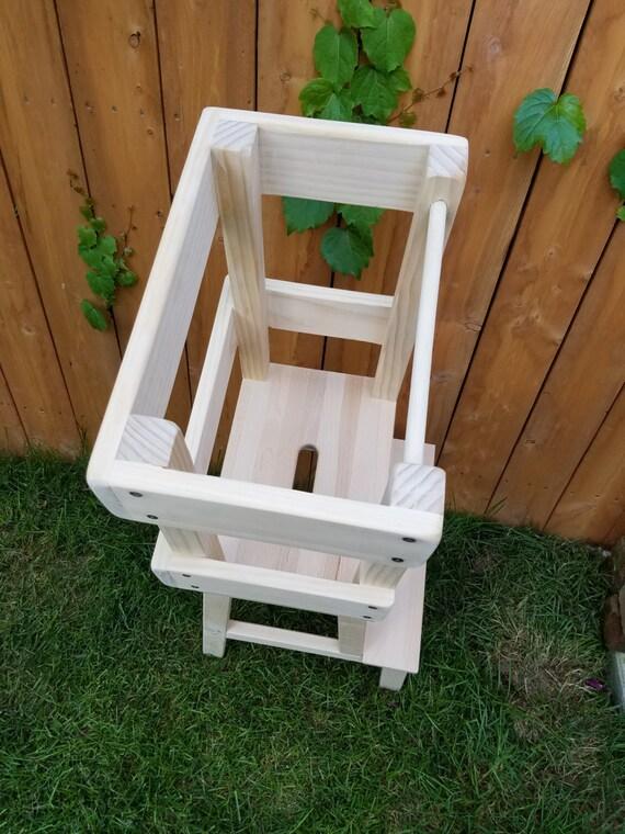 Style Montessori Lapprentissage Tabouret Aide De Cuisine