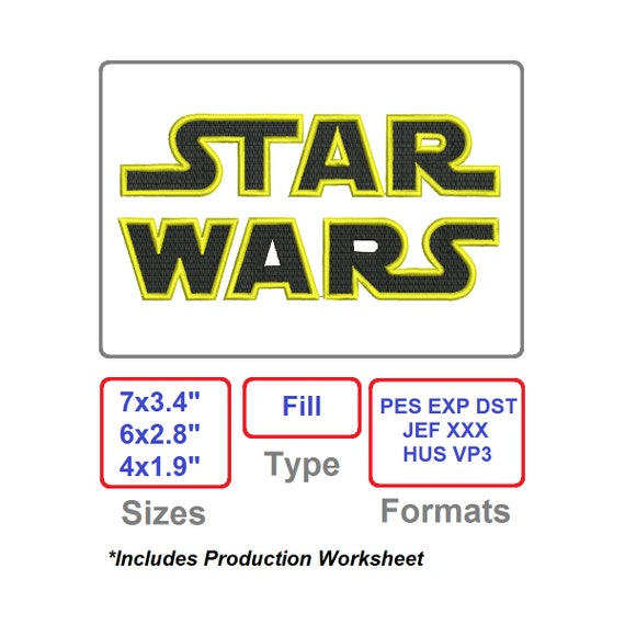 Embroidery Designs Star Wars Embroidery Pattern Disney Etsy