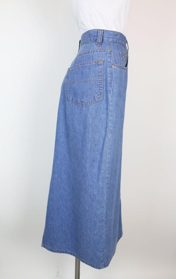 80s RALPH LAUREN DENIM skirt size 6 - image 5