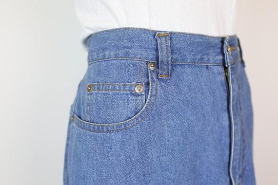 80s RALPH LAUREN DENIM skirt size 6 - image 3