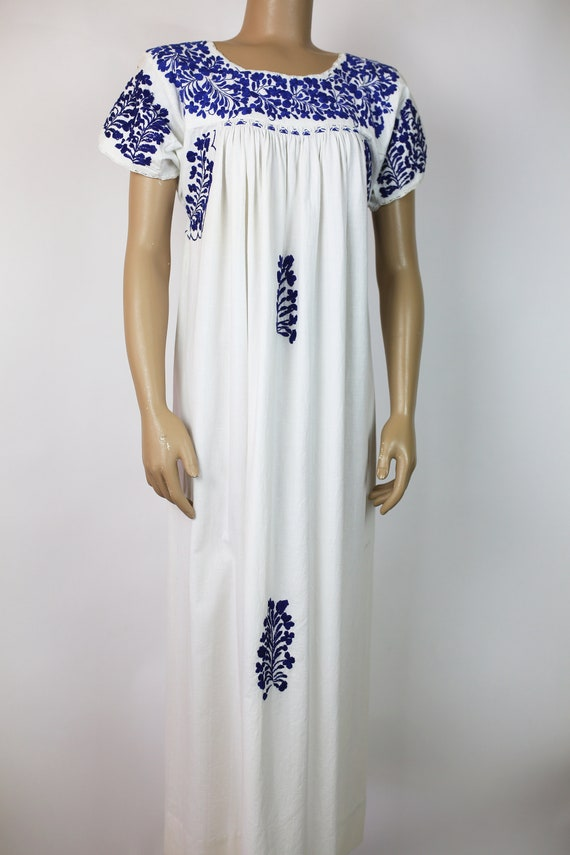 MEXICAN EMBROIDERED DRESS cotton - image 2
