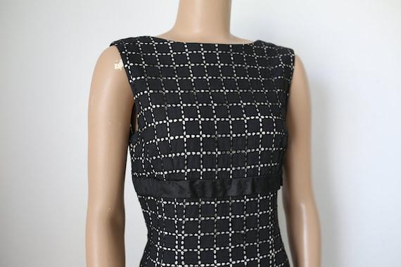 50s MINX MODES EYELET black dress size xs