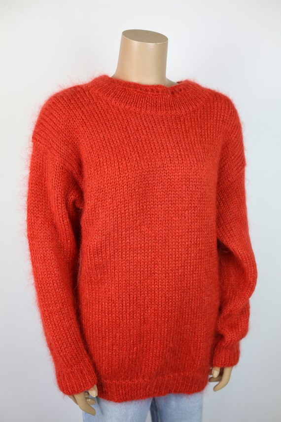 80s RAFAELLA OVERSIZED SWEATER reddish orange moha