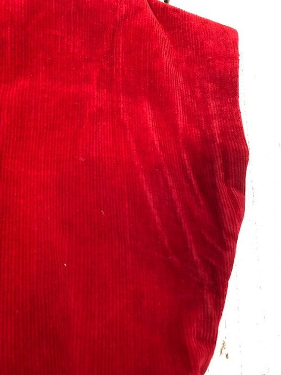 40s KAY WHITNEY RED dress corduroy size small - image 8
