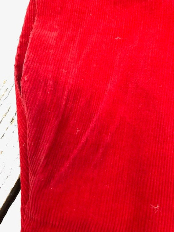 40s KAY WHITNEY RED dress corduroy size small - image 7