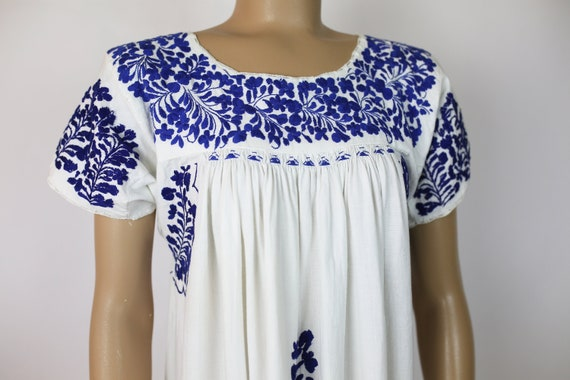 MEXICAN EMBROIDERED DRESS cotton - image 1