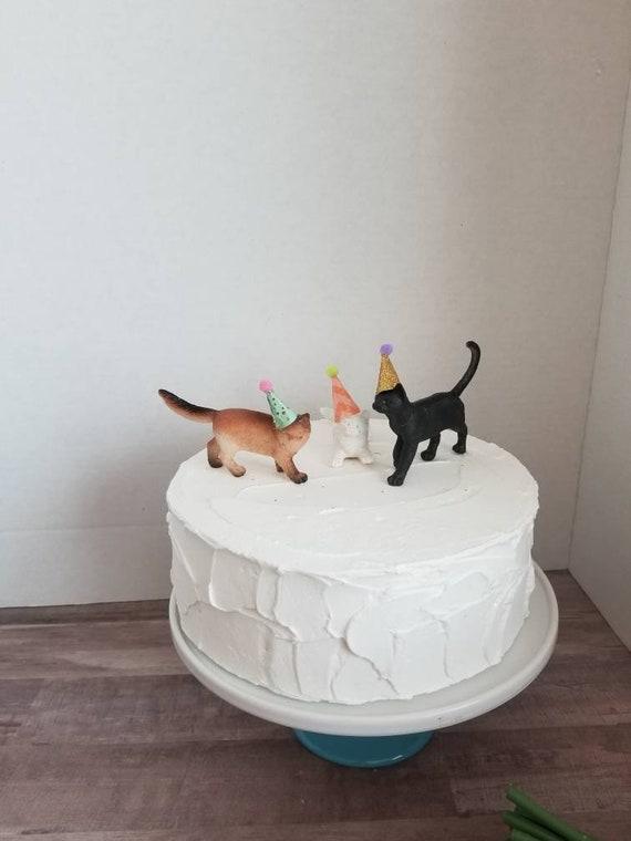 Kitty Cat Cake Topper Set Crazy Cat Lady Cake Kitty Cat Party