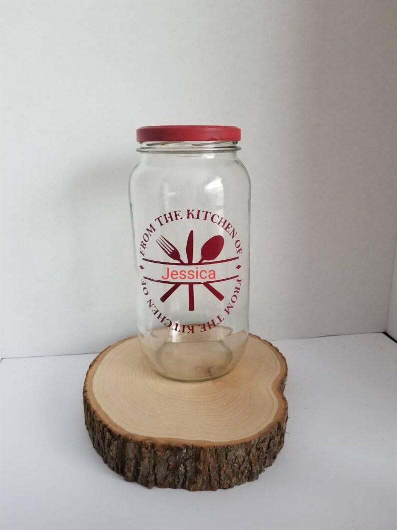 Personalized Mason Storage Jar From The Kitchen Decorative Etsy