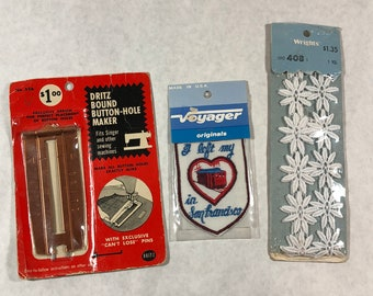 Vintage Various Sewing Materials and I Left My Heart In San Francisco Patch NIB NOW 20% OFF!