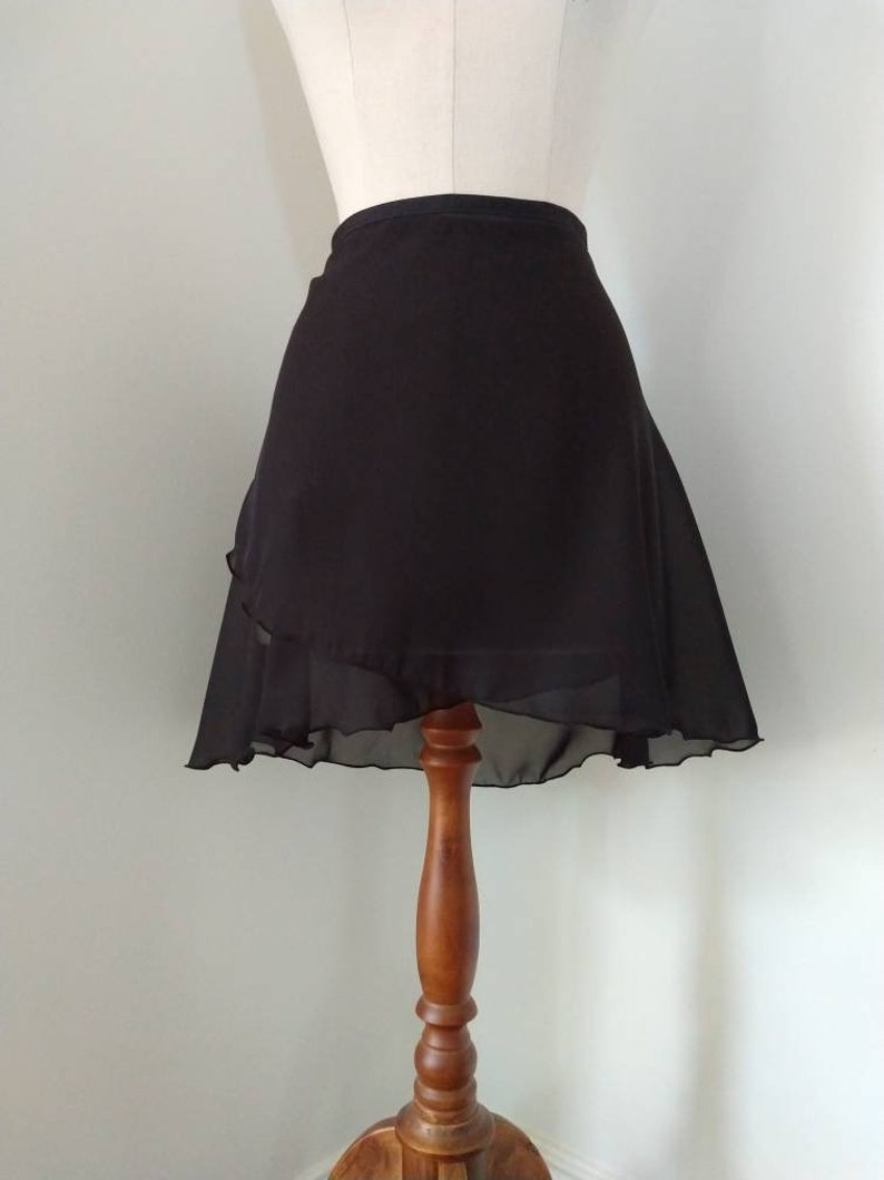 Black chiffon ballet wrap skirt