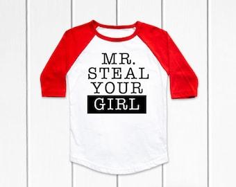 5b5dd3012 Mr Steal Your Girl Baseball Tee- Toddler Shirt-Mr Steal Your Girl- Mr Steal  Your Girl