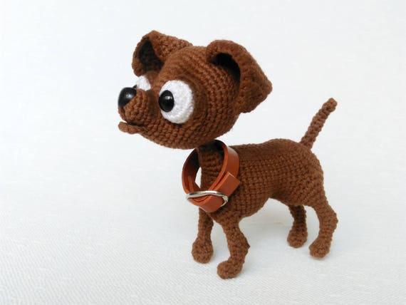 Amigurumi Dog Crochet Chihuahua Plushie Toy Stuffed Chihuahua Etsy