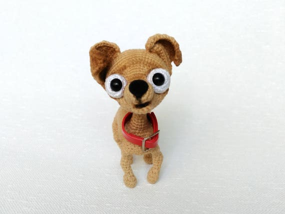 Crochet Dog Amigurumi Chihuahua Plushie Toy Stuffed Chihuahua Etsy