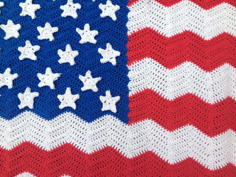 Haakpatroon Plaid Van Amerikaanse Vlag