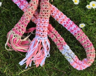 SALE Summer scarf with fringes