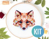 Fox Cross Stitch Kit DIY Animal Embroidery Kit Counted Cross Stitch