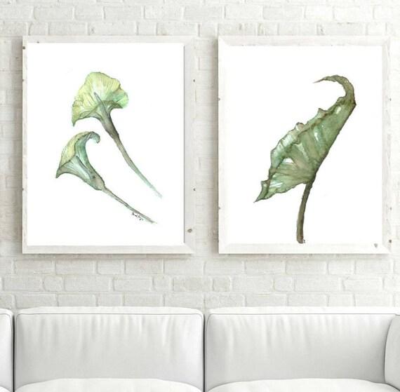 Mettre 2 Feuilles Imprimable Pour Boite De Botanique Flor Cala Etsy
