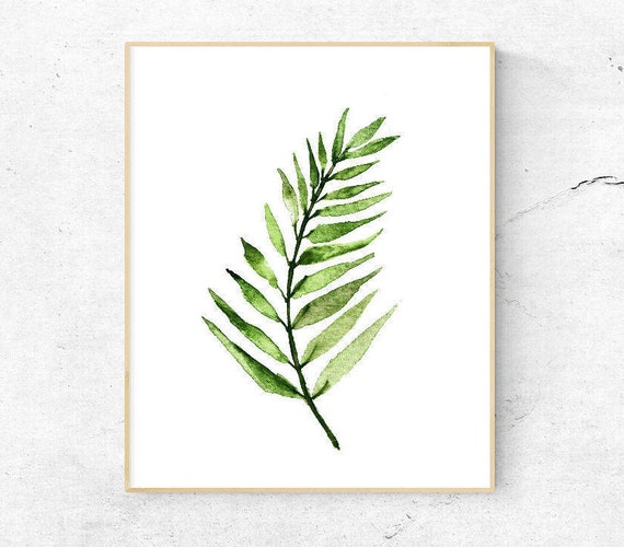 photograph about Palm Leaf Printable identify Watercolor Palm Leaf Printable Wall Artwork .Poster Botanical Wall Decor Print.Printable Artwork.Electronic Down load