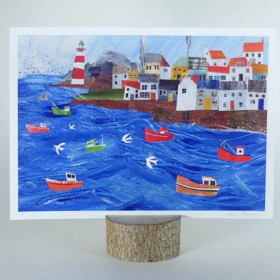 Scottish Coast Print, A4 giclée print