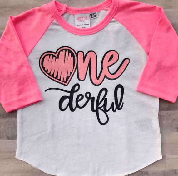 Onederful Birthday Shirt First Girl