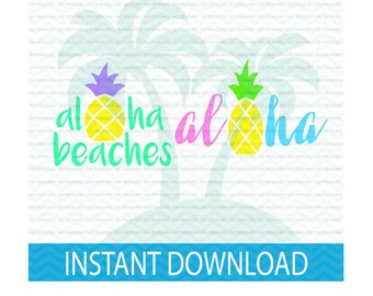 Summer SVG, aloha beaches svg, beach babe svg, aloha svg, SVG, summer, summer bundle svg, svg files for Silhouette, svg files for Cricut