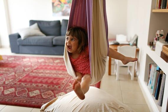 Hanging Chair Indoor Swing Sensory Swing Kids Room Decor Etsy