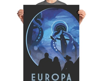 Europa - NASA Visions of the Future - Space Poster
