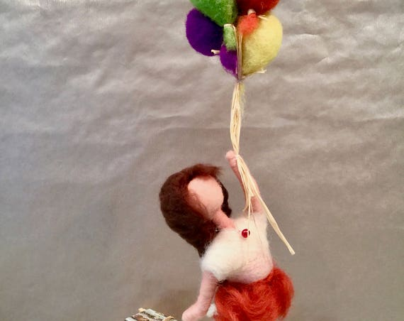 Needle felted doll, felted ornament, felted doll, doll ornament, mothers day decor, felted mobile, children mobile, kids decor, doll art