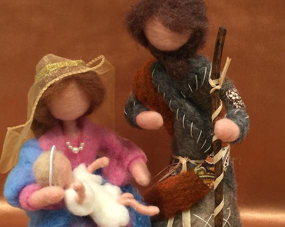 Nativity set, needle felted nativity , nativity scene, Waldorf nativity, nativity figurines, wool nativity, nativity sculptures, nativity