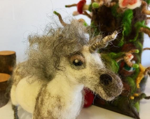 Needle felted unicorn, needle felted horse, needle felted pony, wool unicorn, unicorn doll, unicorn ornament, Waldorf unicorn, magical horse
