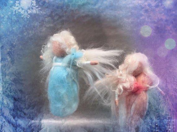Needle felted angel, needle felted fairy, Waldorf fairy, Christmas ornament, Christmas tree ornament, Baptism angel, wool angel, wool fairy