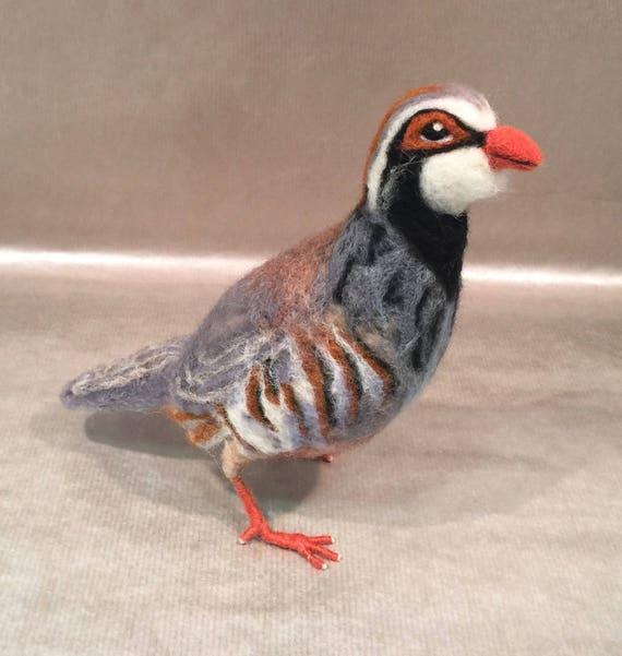 Needle felted animals, needle felted bird, partridge, Waldorf animal, bird sculpture, animal sculpture, bird figurine, bird sculpture, bird