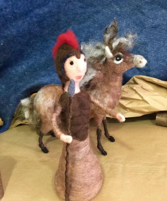 Needle felted nativity, nativity set, nativity figurine, needle felted nativity doll, Waldorf nativity, nativity figurine, nativity doll