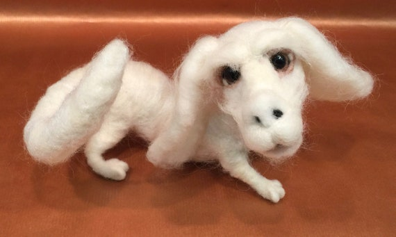Falkor, Never-ending story, the Luck dragon, Christmas ornament, Christmas gift, needle felted dragon, felted Christmas, Christmas doll