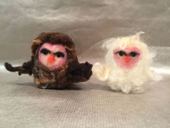 Needle felted owls, wool owls, owl art, felted owl ornament, felted owl decor, felted owl doll, Waldorf inspired, owl love, owl doll, owl