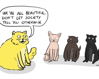 A5 Body Positive Cats