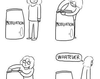 A4 Motivation Comic Print
