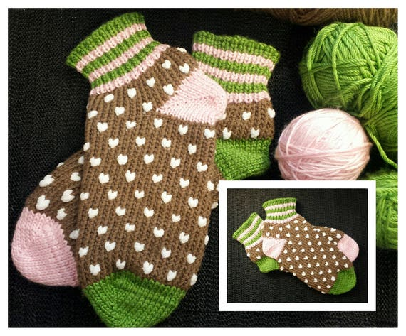 Loom Knit Pdf Pattern Only Alexis Slipper Socks Etsy