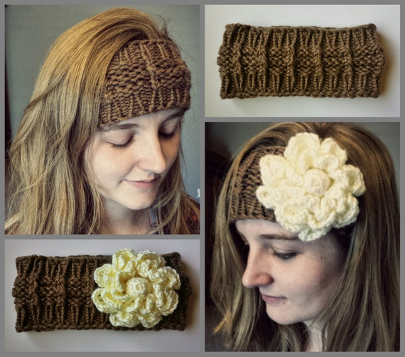 Loom Knitting Patterns Huntress Headband Ear Warmer In Large