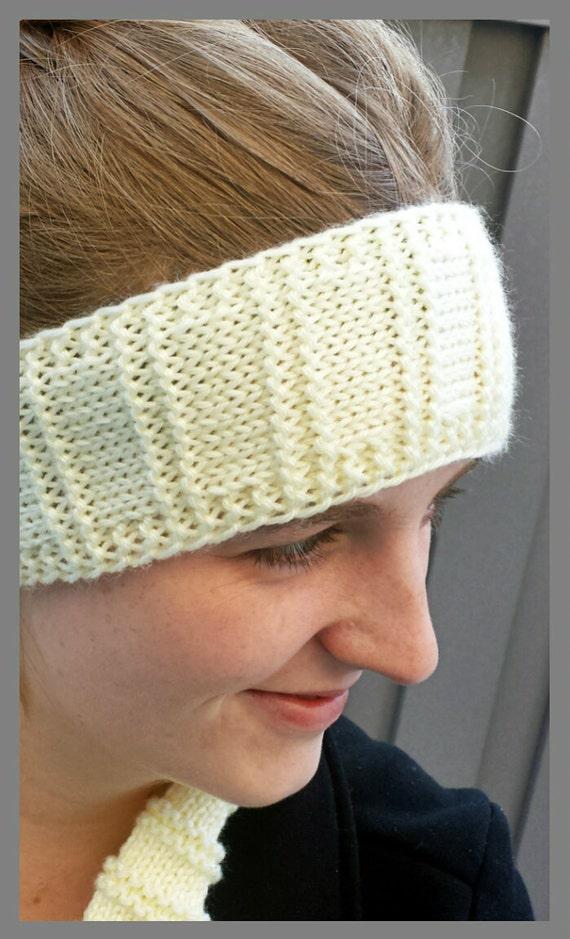 Loom Knitting Patterns Kiss Headband Ear Warmer In Etsy