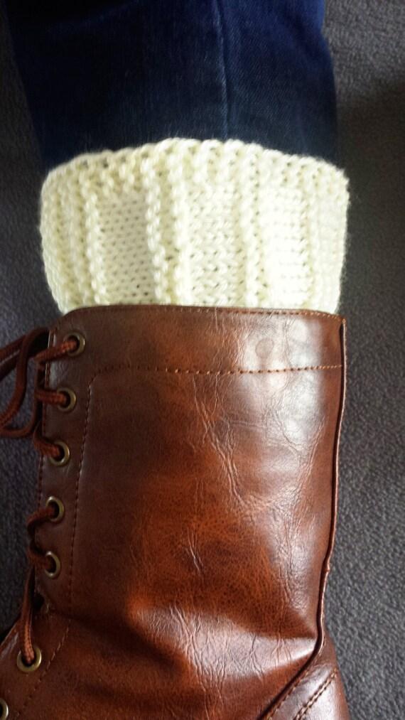 Loom Knitting Patterns Kiss Boot Cuffs In Regular Small Etsy