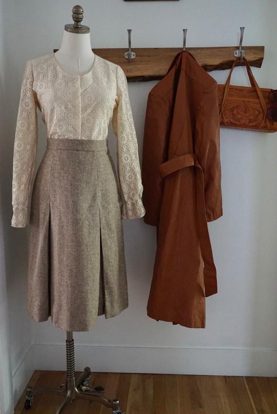 Vintage 1970s A-Line Skirt