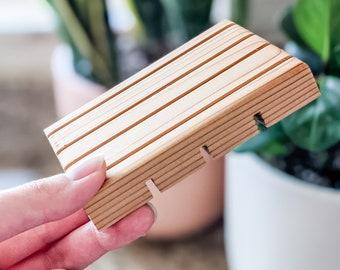 Cedar Soap Dish   Natural Wooden Soap Deck   Soap Saver
