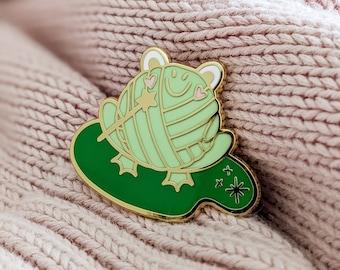 Hard Enamel Pin   Magical Ms. Frog-It   Cloisonné Project Bag Pin