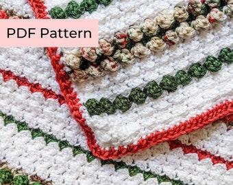 Crochet PATTERN   The Noel Blanket   Easy Crochet Christmas Blanket Pattern   Instant Download PDF