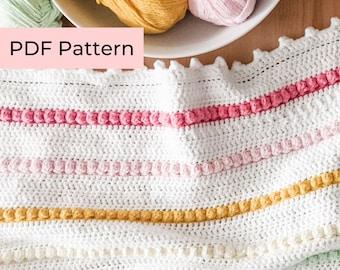 Crochet PATTERN   The Rainbow Bobble Blanket   Easy Bobble Crochet Blanket Pattern   Instant Download PDF