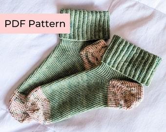 Crochet PATTERN   The Eloise Socks   Easy Crochet Socks with Comfy Ribbing   Instant Download PDF