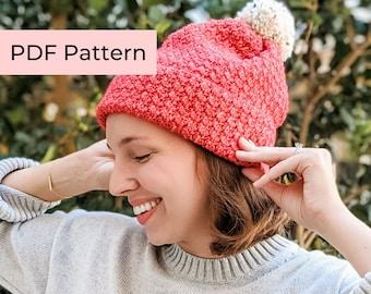 Crochet PATTERN   The Noel Hat   Beginner Crochet Christmas Beanie Pattern   Instant Download PDF